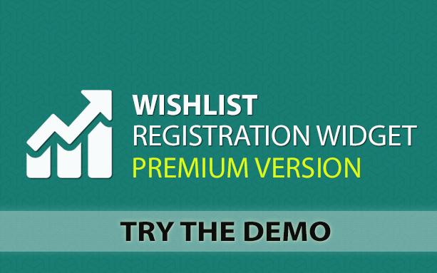 Wishlist Registration Widget - Demo